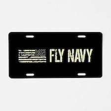 Black Flag: Fly Navy Aluminum License Plate