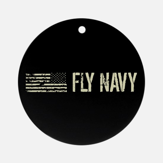 Black Flag: Fly Navy Round Ornament