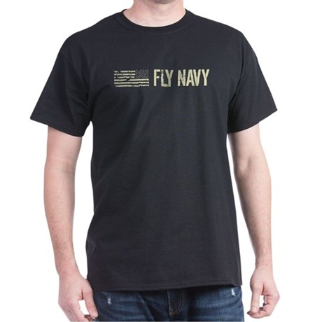 CafePress Black Flag: Fly Navy Dark T-Shirt