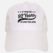 Funny 92nd Birthday Baseball Baseball Cap