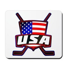 American Hockey Shield Logo Mousepad