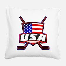 American Hockey Shield Logo Square Canvas Pillow