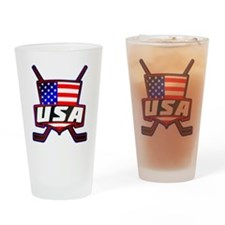 American Hockey Shield Logo Drinking Glass