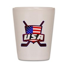 American Hockey Shield Logo Shot Glass