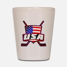 American Hockey Shield Logo Shot Glass
