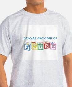 Daycare Provider of Twins Ash Grey T-Shirt