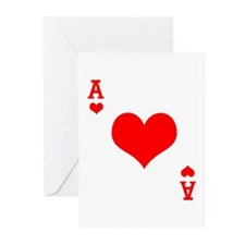 Ace of Hearts Greeting Cards (Pk of 10)