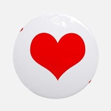 Ace of Hearts Ornament (Round)