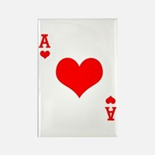 Ace of Hearts Rectangle Magnet