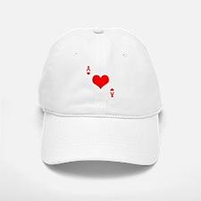 Ace of Hearts Baseball Baseball Cap
