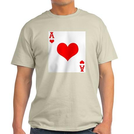 Ace of Hearts Ash Grey T-Shirt