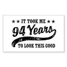 Funny 94th Birthday Decal