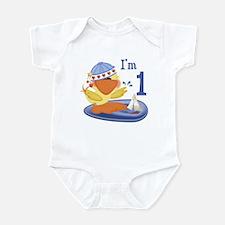 Duckie Boy First Birthday Infant Bodysuit