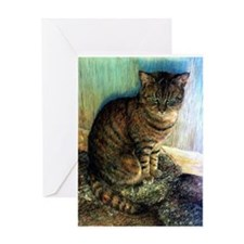 Tabby Cat Portrait Greeting Card