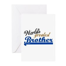Worlds greatest brother Greeting Cards (Pk of 20)