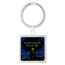Fireflies light the heart of night Keychains