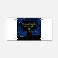Fireflies light the heart of night Aluminum Licens