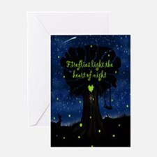 Fireflies light the heart of night Greeting Card