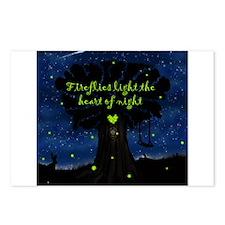 Fireflies light the heart of night Postcards (Pack