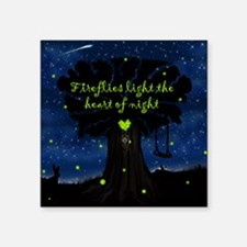 Fireflies light the heart of night Sticker