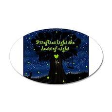 Fireflies light the heart of night Wall Decal