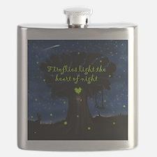 Fireflies light the heart of night Flask
