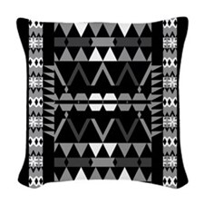 Mix #369 - Black And White Tribal Woven Throw Pill