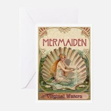 Mermaid on Shell Greeting Cards (10 Pk)