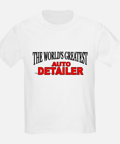 """The World's Greatest Auto Detailer"" Kids T-Shirt"