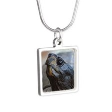 gopher tortoise Silver Square Necklace
