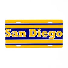 San Diego Aluminum License Plate