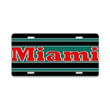 Miami Aluminum License Plate