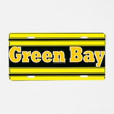 Green Bay Aluminum License Plate