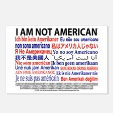 """I am not American"" No flag Postcards"