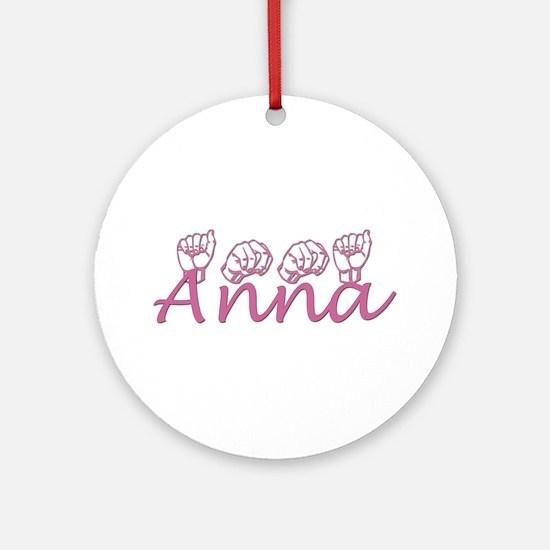Anna Ornament (Round)