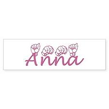 Anna Bumper Bumper Sticker