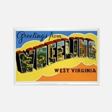 Wheeling West Virginia Greetings Rectangle Magnet