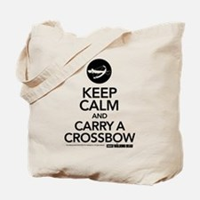 Keep Calm Carry a Crossbow Tote Bag