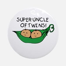 Super Uncle of Twins Ornament (Round)
