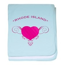 Rhode Island State (Heart) Gifts baby blanket