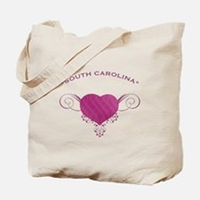 South Carolina State (Heart) Gifts Tote Bag