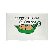 Super Cousin of Twins Rectangle Magnet