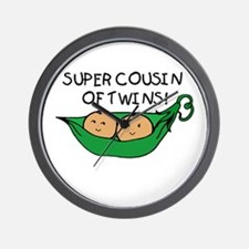 Super Cousin of Twins Wall Clock