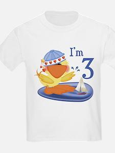Duckie Boy 3rd Birthday Kids T-Shirt