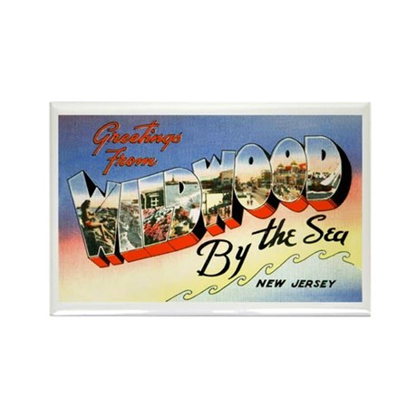 Wildwood New Jersey Greetings Rectangle Magnet