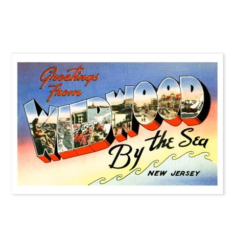 Wildwood New Jersey Greetings Postcards (Package o