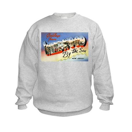 Wildwood New Jersey Greetings Kids Sweatshirt