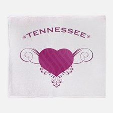 Tennessee State (Heart) Gifts Throw Blanket