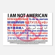 """I am not American"" Peace - 8 Postcards"