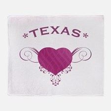 Texas State (Heart) Gifts Throw Blanket